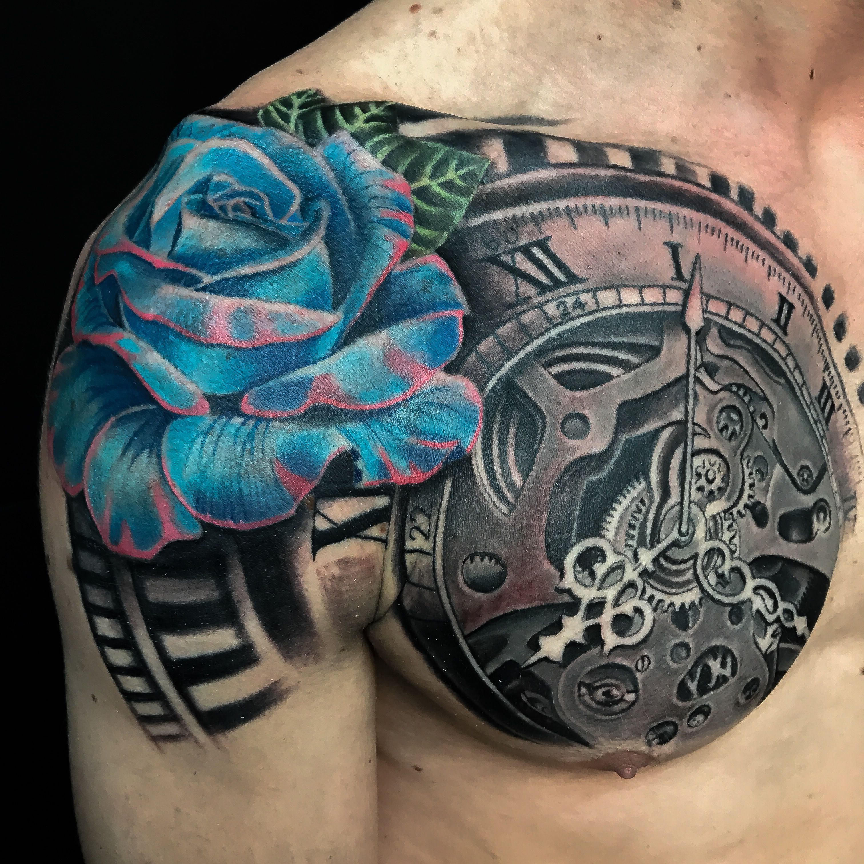 Pin By Eli Perez On Tattoos In 2020 Sleeve Tattoos Rose Chest Tattoo Rose Tattoo Sleeve