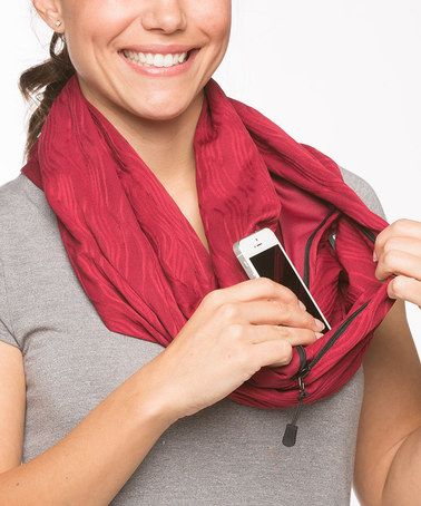 Look at this #zulilyfind! Maroon Moon Convertible Infinity Scarf . Great Idea, guess you would at least hear it ringing :)  #zulilyfinds