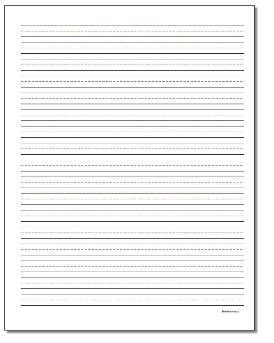 Blank Handwriting Worksheets For Kindergarten Worksheet For Kindergarten Writing Paper Template Handwriting Worksheets For Kindergarten Handwriting Paper Lined paper for handwriting practice
