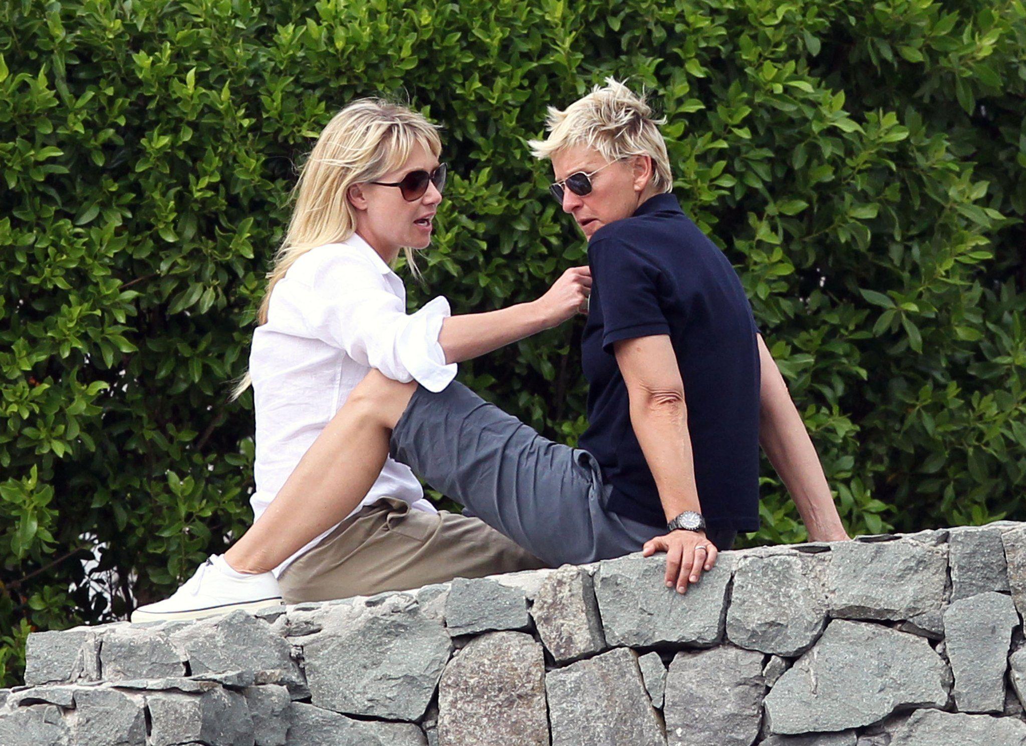 Ellen And Portia Ellen Degeneres Et Portia De Rossi Faatent Leur 4 Ans De Mariage