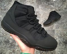 wholesale dealer a09f4 72bcb Custom matte black jordan 11s