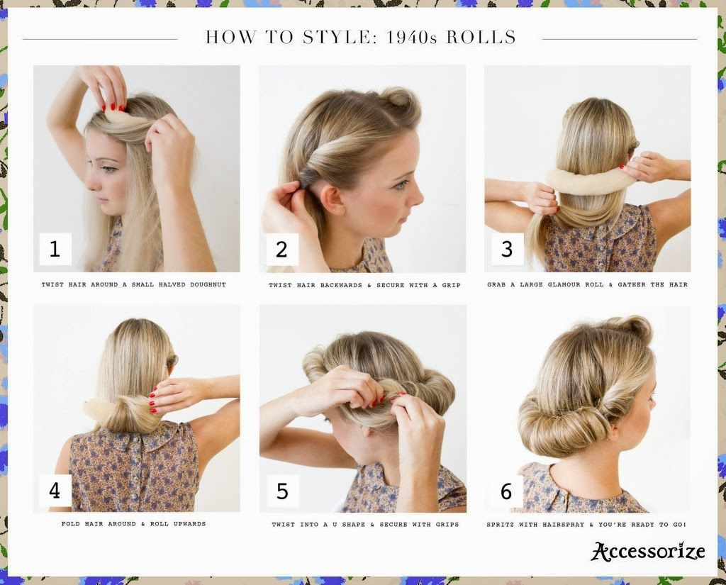 easy updos - step-by-step diy guides | style | 1940s