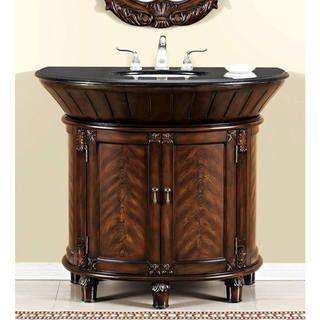 Anteros Demilune Brown Cherry Bathroom Vanity   Overstock™ Shopping   Great  Deals On Bathroom Vanities