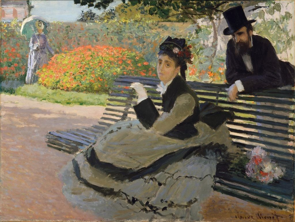 1873 Camille Monet In The Garden At Argenteuil Claude Monet Claude Monet Paintings Monet Paintings Monet Oil Paintings