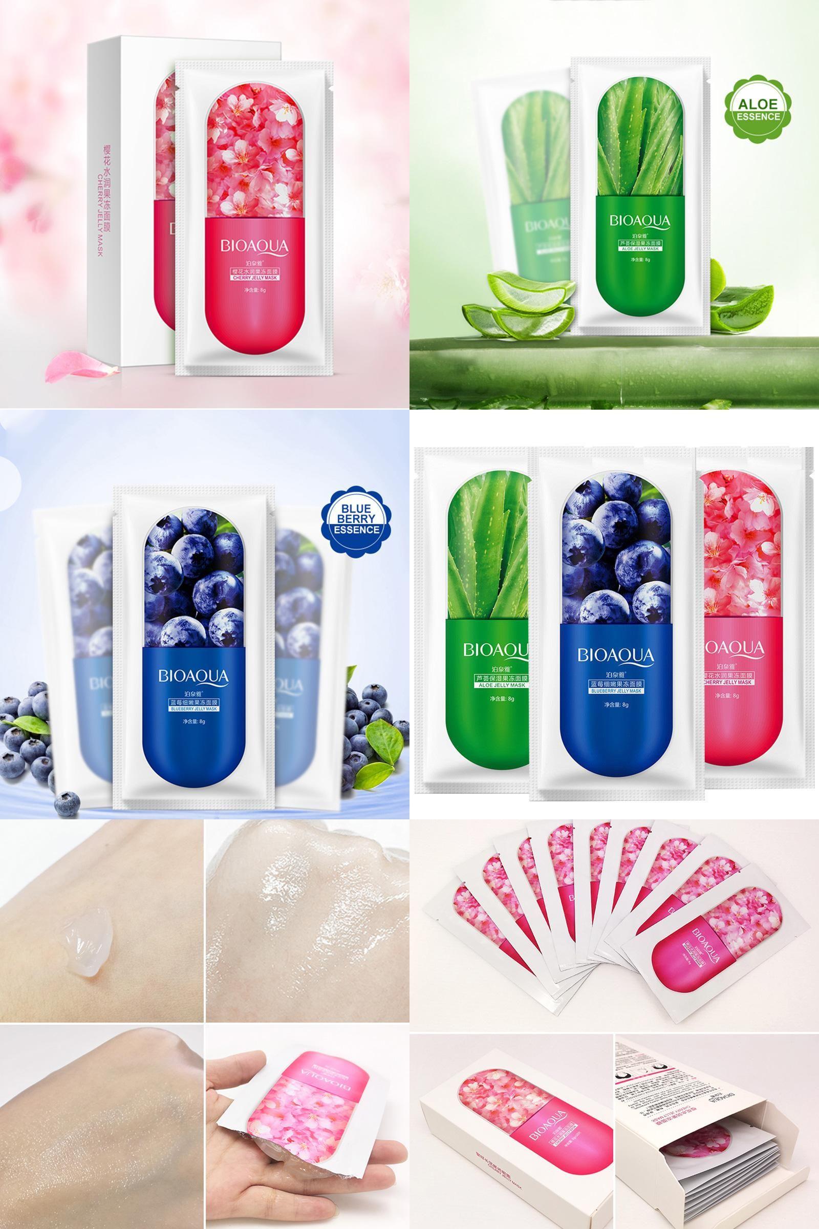 Visit To Buy Bioaqua Jelly Mask Face Care Aloe Vera Blueberry Gel Original Cherry
