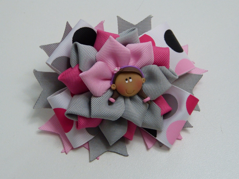 Lazos faciles de liston flores elegantes en cinta gros - Lazos con cintas ...