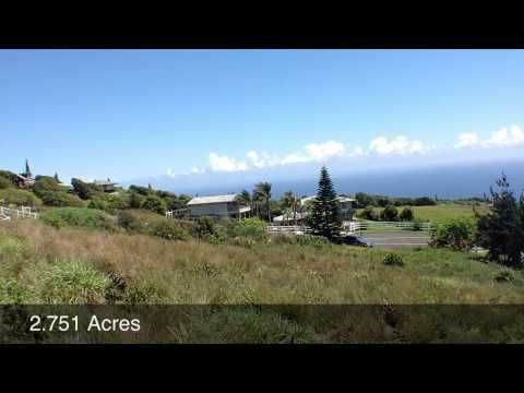 Maluhia Coutry Ranches Lot 21 - Maui Vacant Land - $224,999 - Gate Community - Superior Ocean Views - Underground Utiilities
