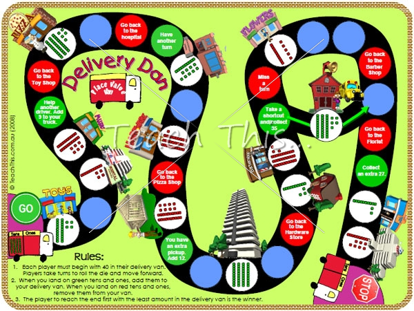 Place Value Game - Delivery Dan - Fun Math Games For School ...