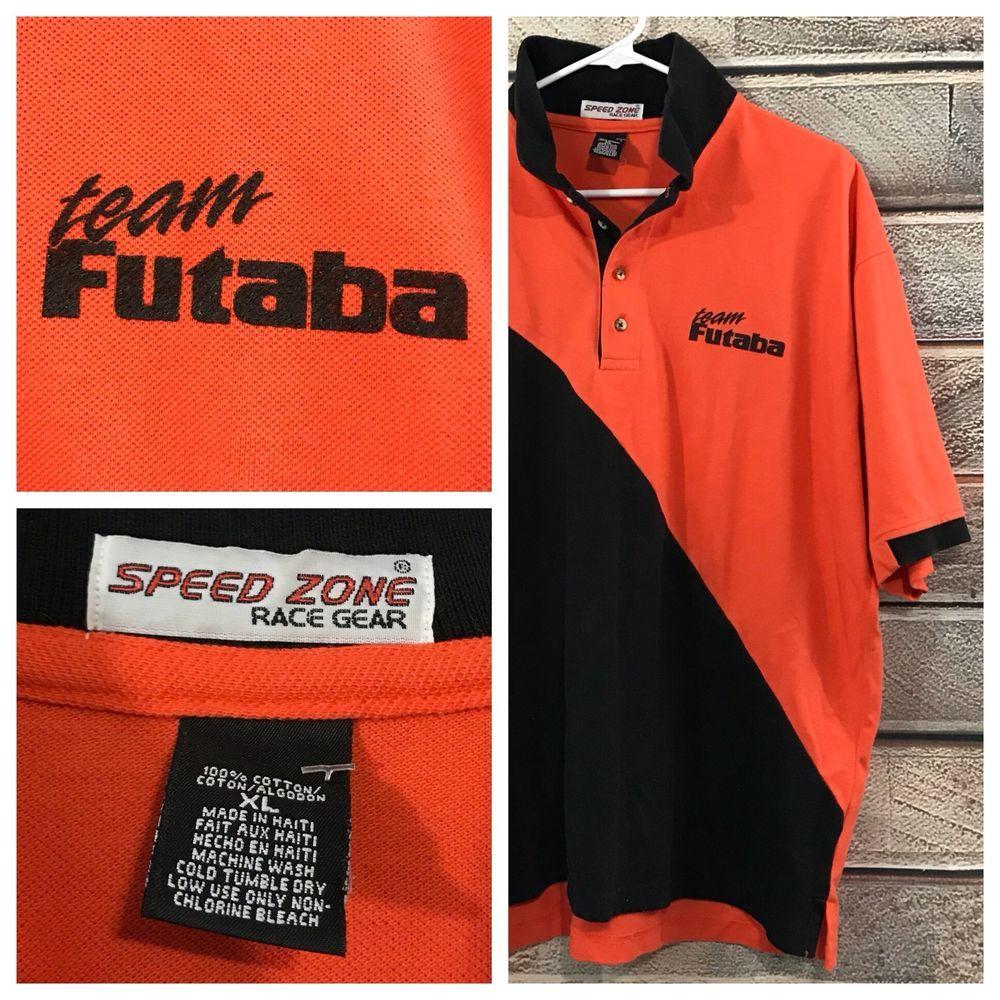 8f06aa3b Futaba Radio Systems Team Racing R/C Controlled S/S Polo Shirt Size XL Rare  | eBay