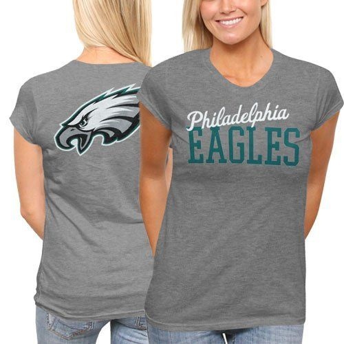 pretty nice c8941 be209 NFL Philadelphia Eagles Ladies Game Day T-Shirt - Ash:Amazon ...