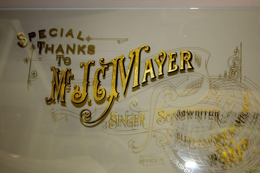 David Smith, Born & Raised Glass Signs, John C. Mayer, Singer/Songwriter USA