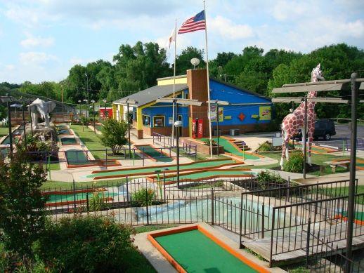 Putt Putt Golf, Games, Parties and Batting Cages, #Roanoke, Virginia Miniature Golf Course Designs Bats on