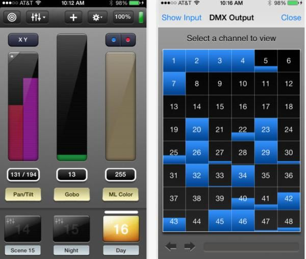 Dmx Lighting Control With Iphone