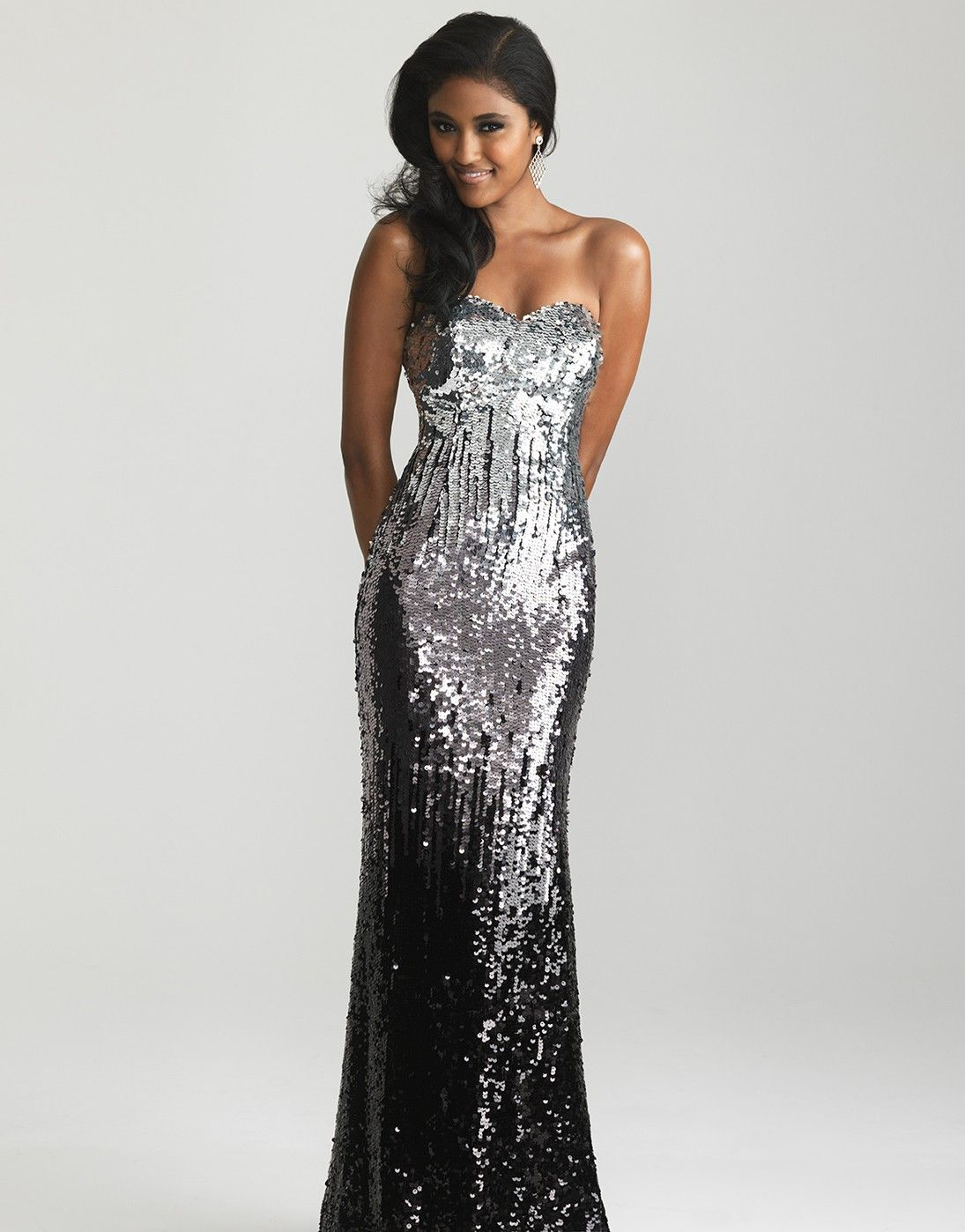 Unique prom black ombre strapless prom dresses and night moves