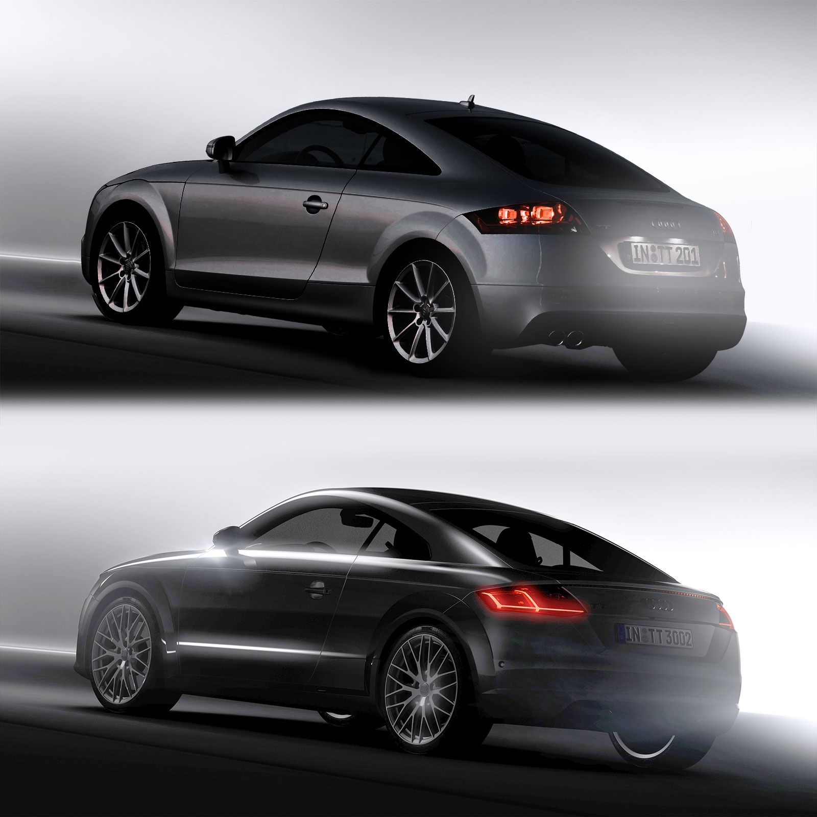 Audi tt 2nd and 3rd generation design comparison
