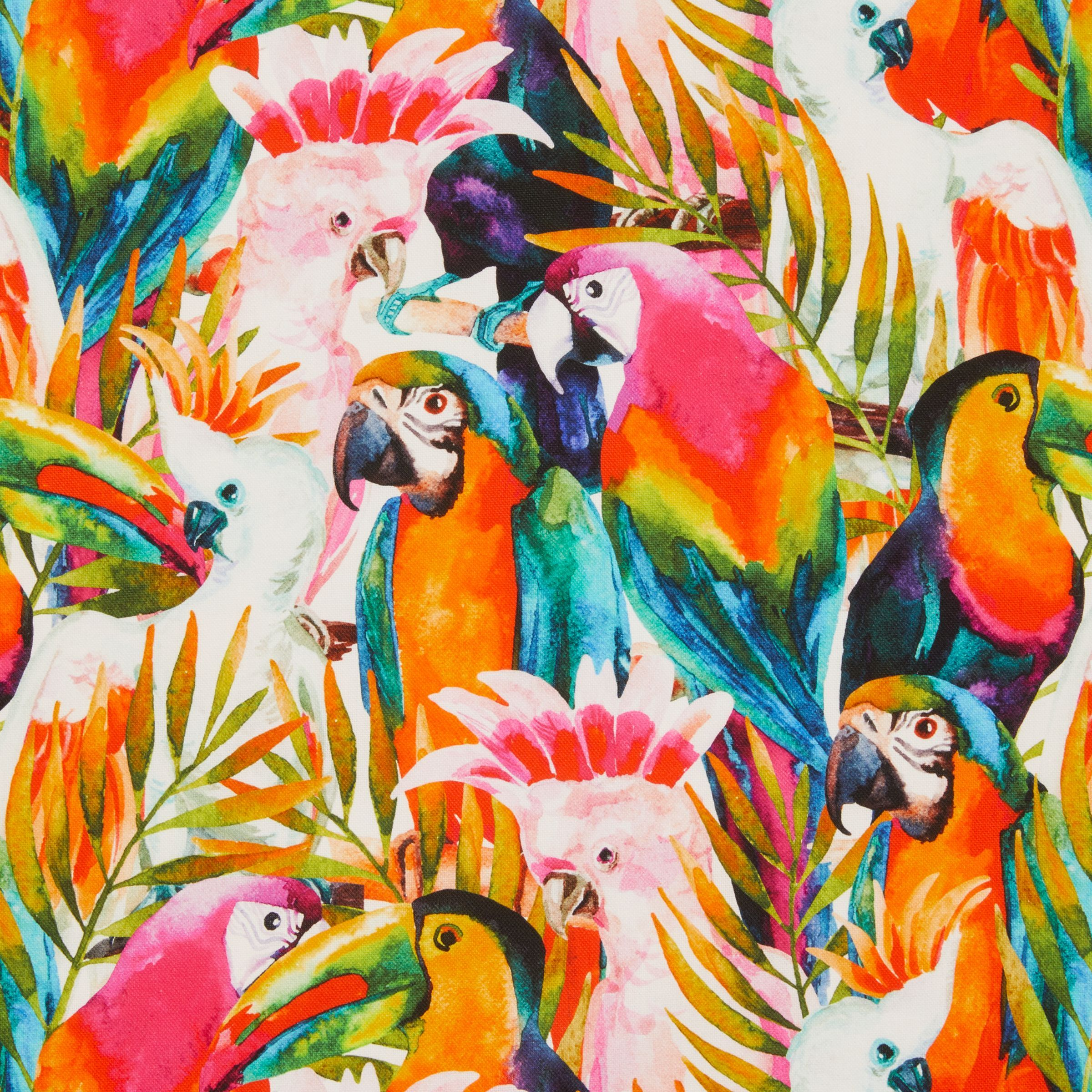 John Louden Tropical Birds Print Fabric, Multi | Bird ...