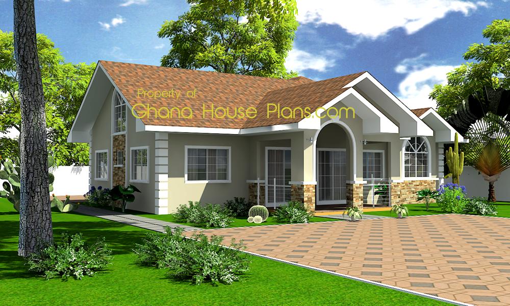 Ghana house plans home model pinterest ghana small for Three bedroom house plan in ghana