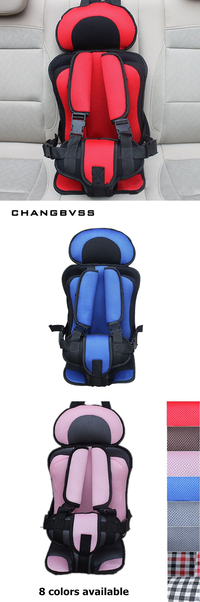 Baby Age:9 Months - 12 Years Old Portable baby care safety seat Five ...