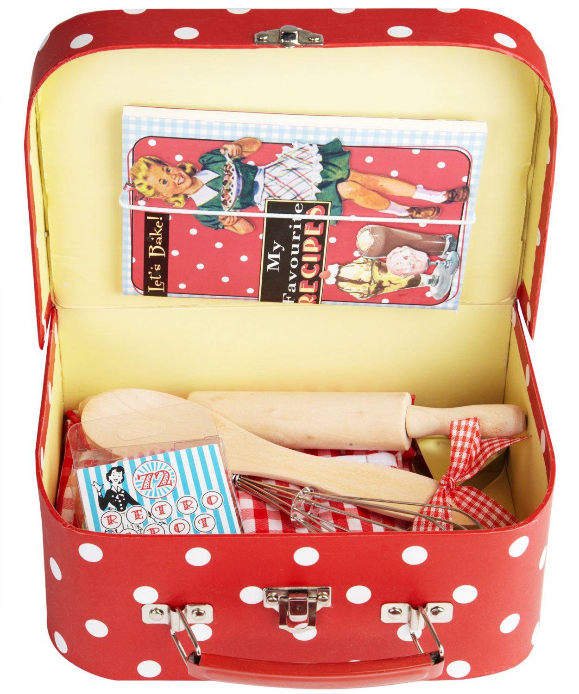 Retro Red Spot 9 Piece Children's Baking Set. Shop More