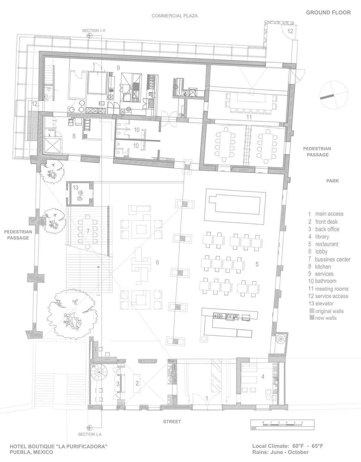 La purificadora hotel legorreta legorreta hoteles for Hoteles en planta