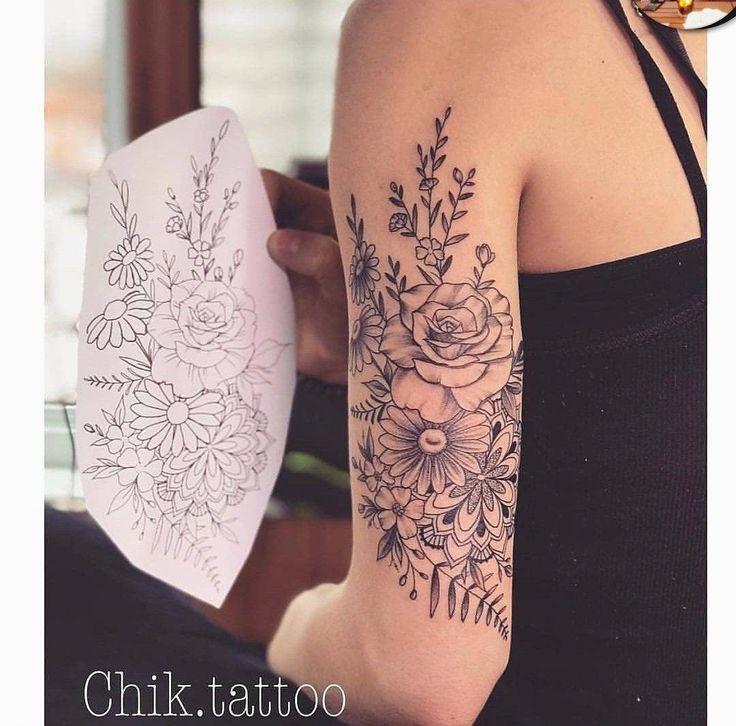 Photo of Blumenmandala Tattoo #Mandalatattoo – pinterest blog