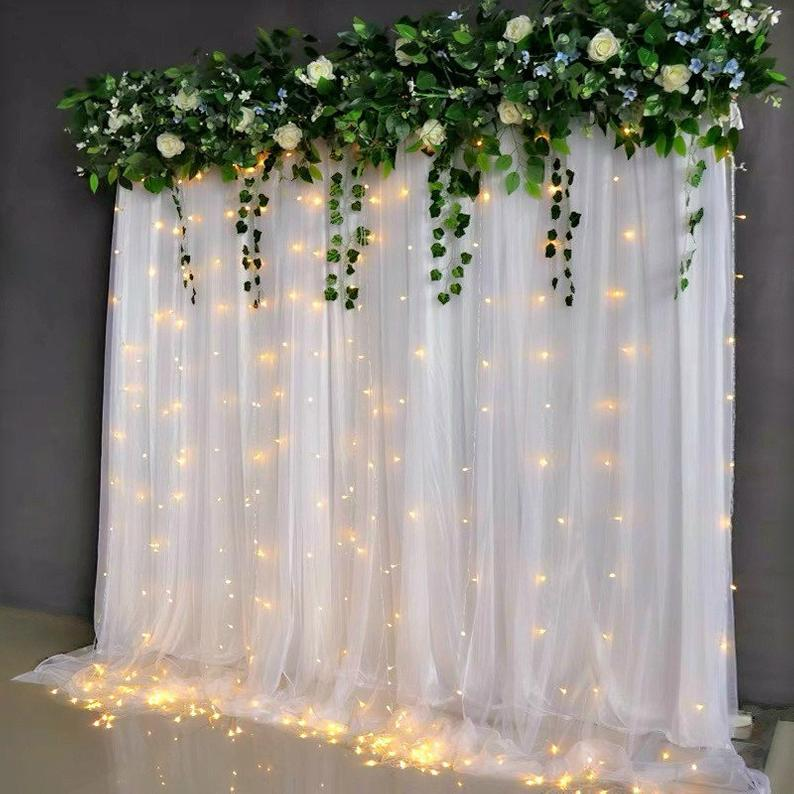 Wedding Backdrop Curtain Wedding Backdrop Fabric Tulle Etsy