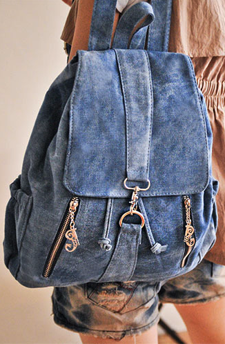 Fashion Cowboy Style Simple Zip Den..
