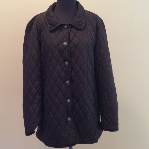 Coach Quilted Jacket Size Xl Quilted Jacket Chocolate Brown And Brown