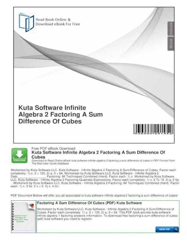 Factoring Linear Expressions Worksheet Kuta software