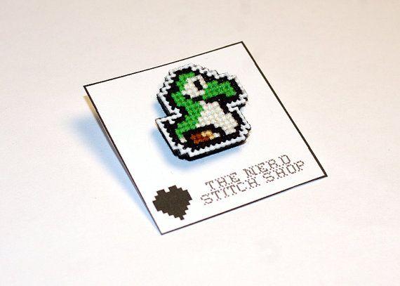 Baby Yoshi Pin - SNES - Video Game on Etsy, £2.17