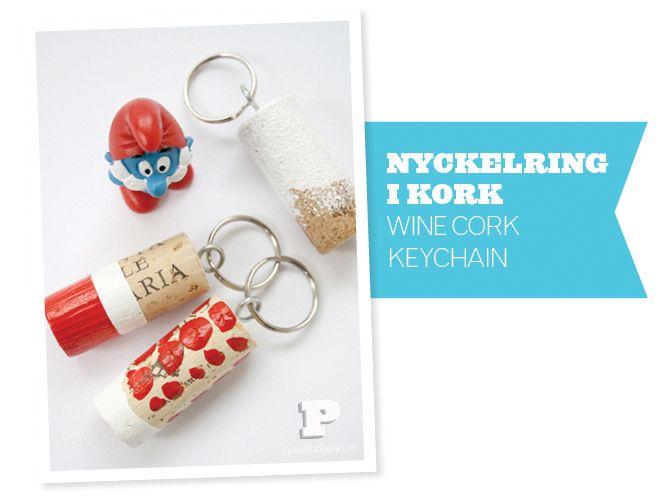 Cork key chains. Cute.