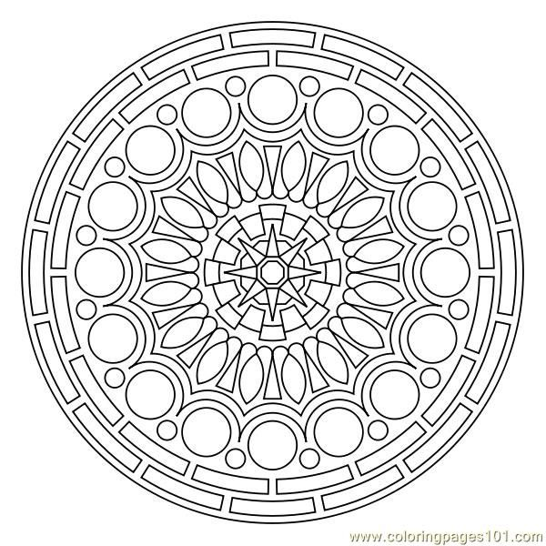 Circle Coloring Page Free Printables Photos
