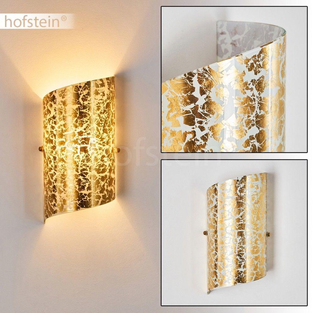 goldfarbene Flur Beleuchtung LED Wand Lampen moderne Schlaf Wohn Zimmer Leuchten