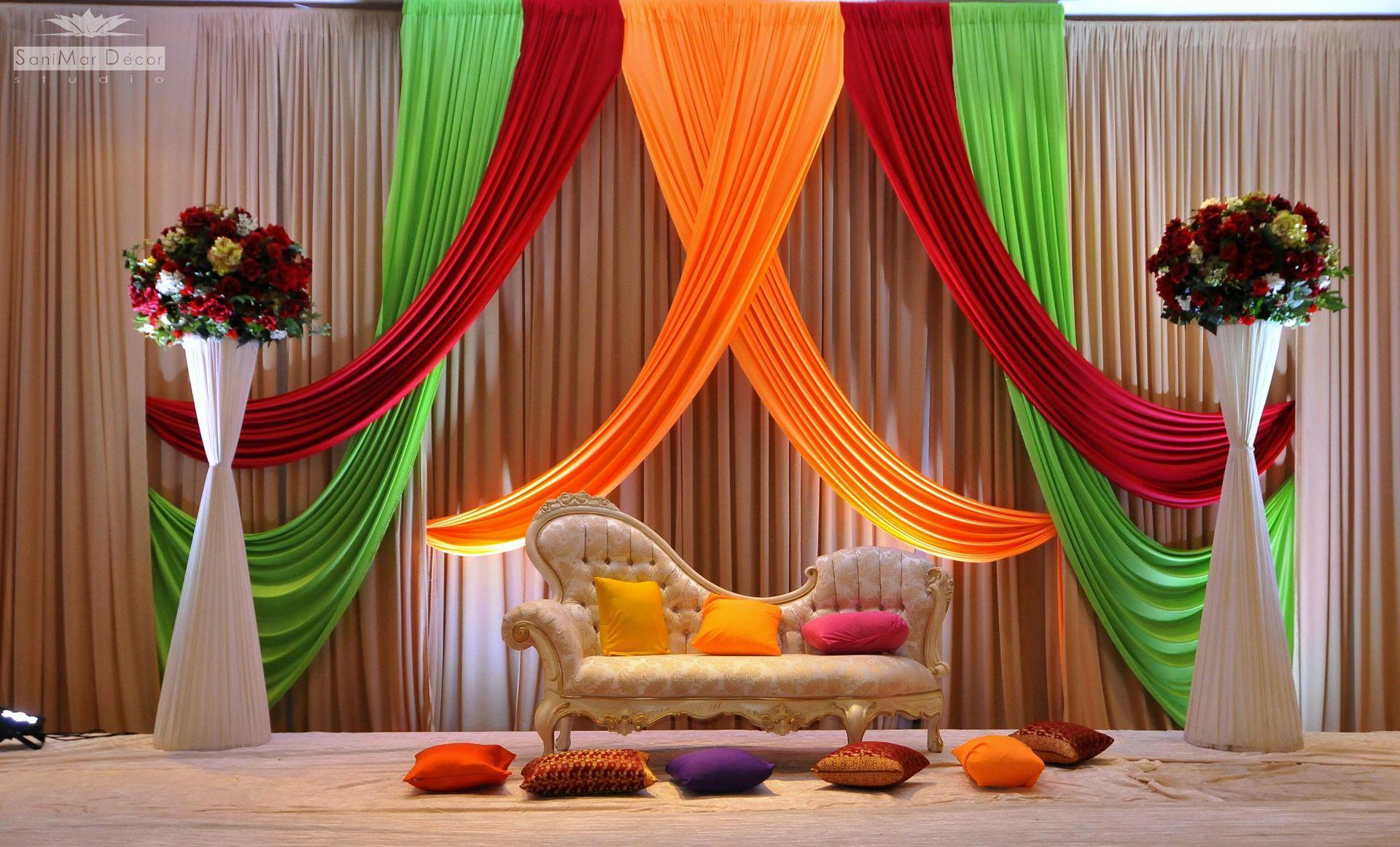 Indian Wedding Stage Decoration Idea Indoor Wedding Decorations Stage Decorations Wedding Decor Elegant