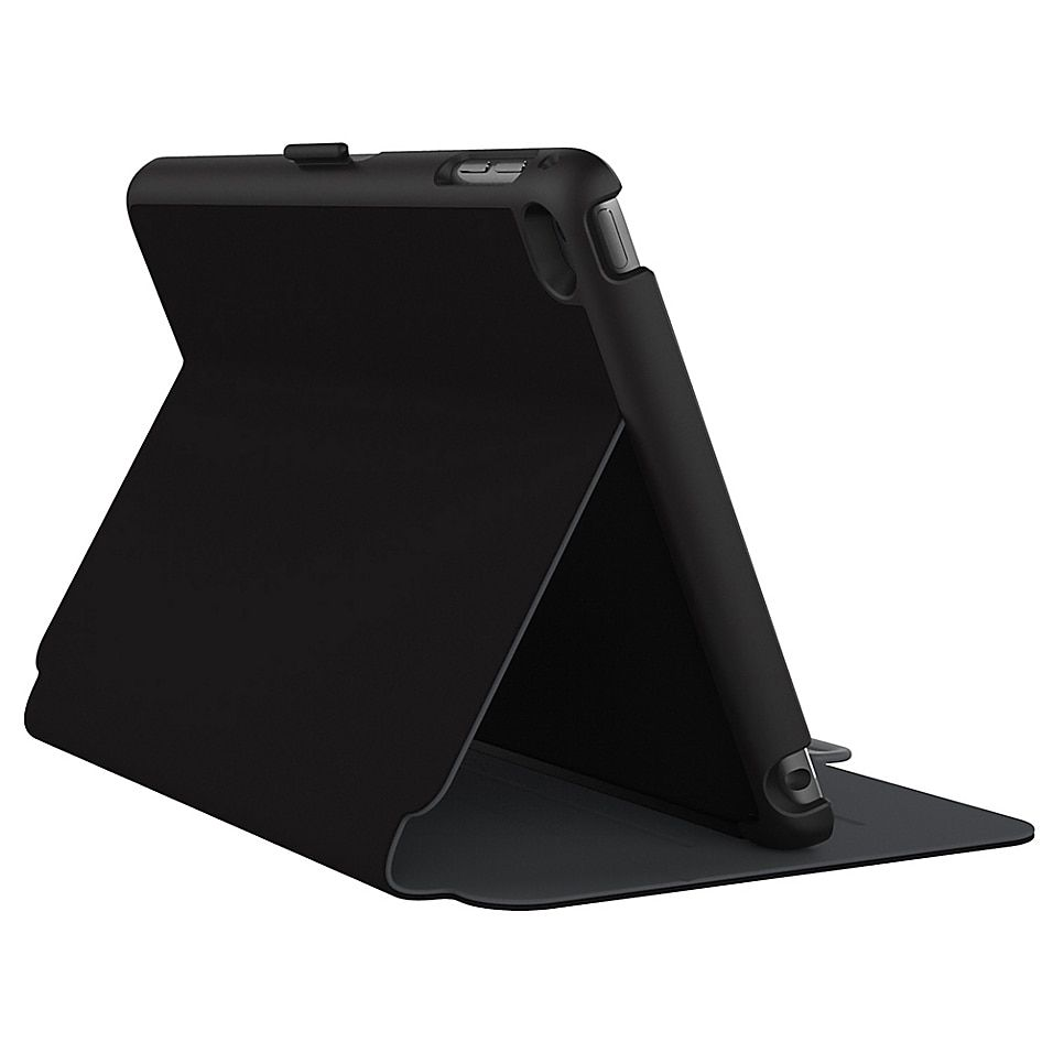Speck Stylefolio Cover For Ipad Mini 4 In Black Black/grey