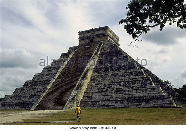 Exterior View America Central America Architecture Mayas Toltecs ...