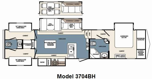 Image result for 3 bedroom 5th wheel Rv floor plans
