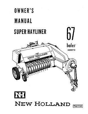 (Sponsored)(eBay) New Holland 67 Baler Operators Manual