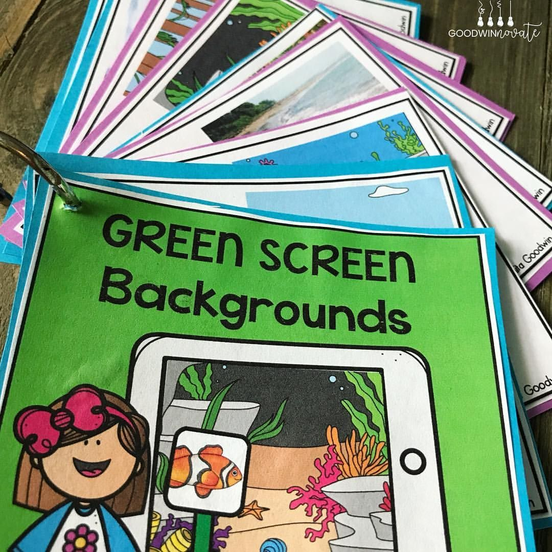 Make Green Screen In The Classroom Easy Have Backgrounds Ready On A Ring That Students Can Scan A Qr Co Greenscreen Green Screen Backgrounds Greenscreen Ideas