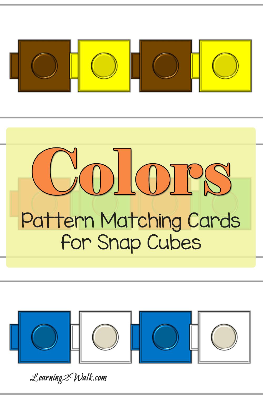 Colors Snap Cube Pattern Matching Snap Cubes Snap Cubes Activities Kindergarten Worksheets [ 1500 x 1000 Pixel ]