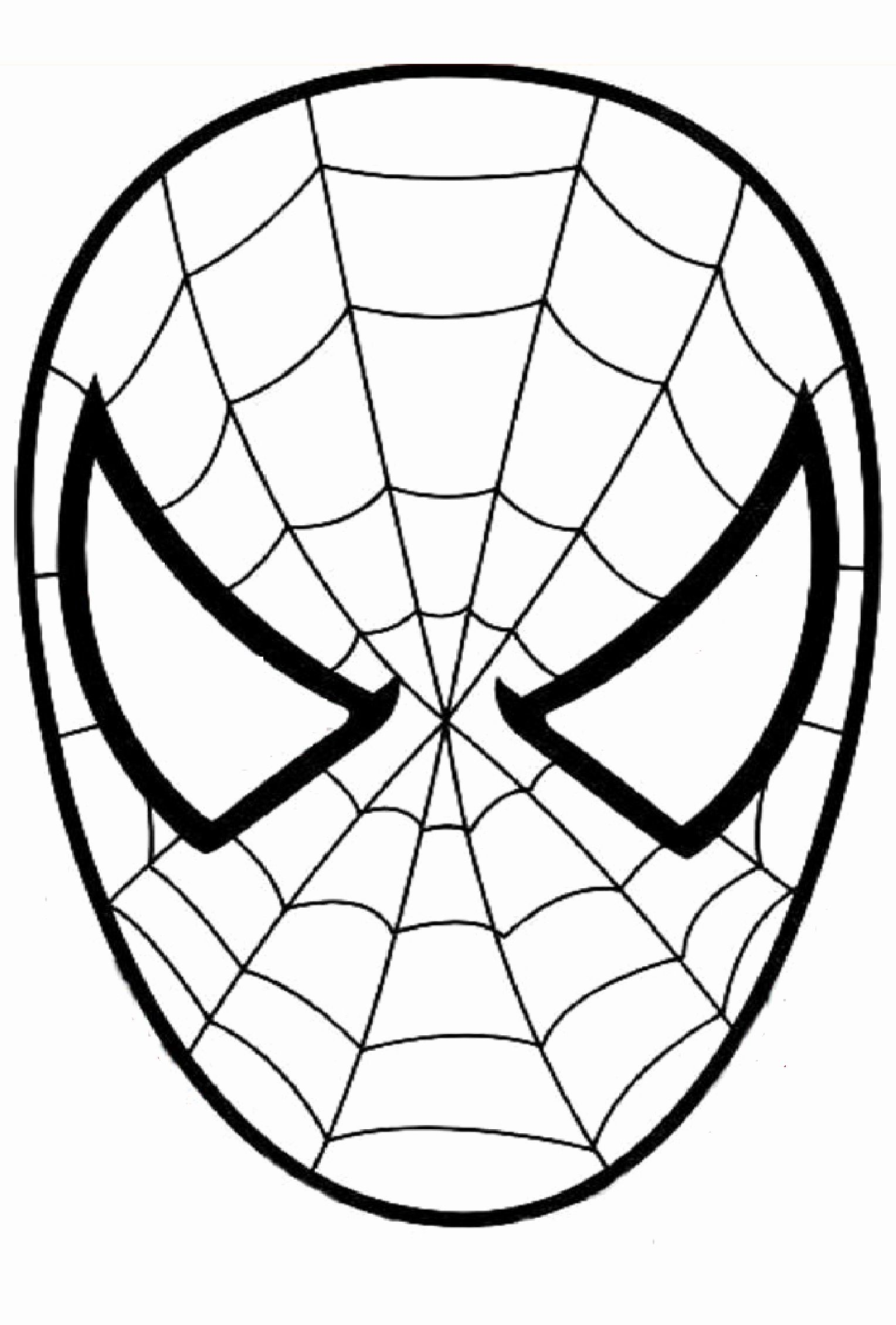 Coloring Pages Kids Spiderman Spiderman Coloring Spiderman Mask Spiderman