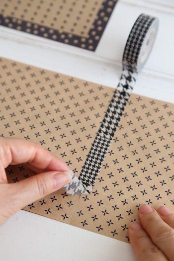 セリア100円おり紙とマスキングテープで簡単ブックカバー 手作り