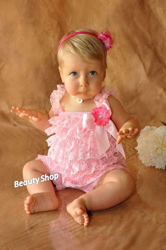 c8f807cec3e Pick ONE Baby Girl Lace Posh Petti Ruffle Rompers by bbabyangel ...