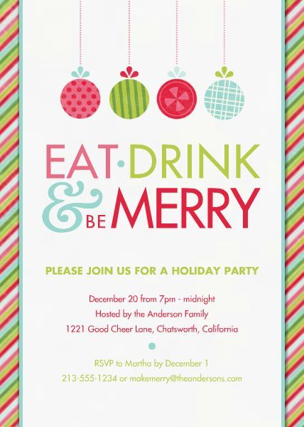 Eat Drink and Be Merry TEMPLATE 128452 By Roxanne Buchholz 5 x 7
