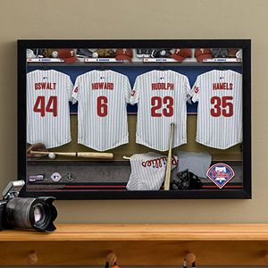 Personalized Philadelphia Phillies MLB Baseball Locker Room Canvas