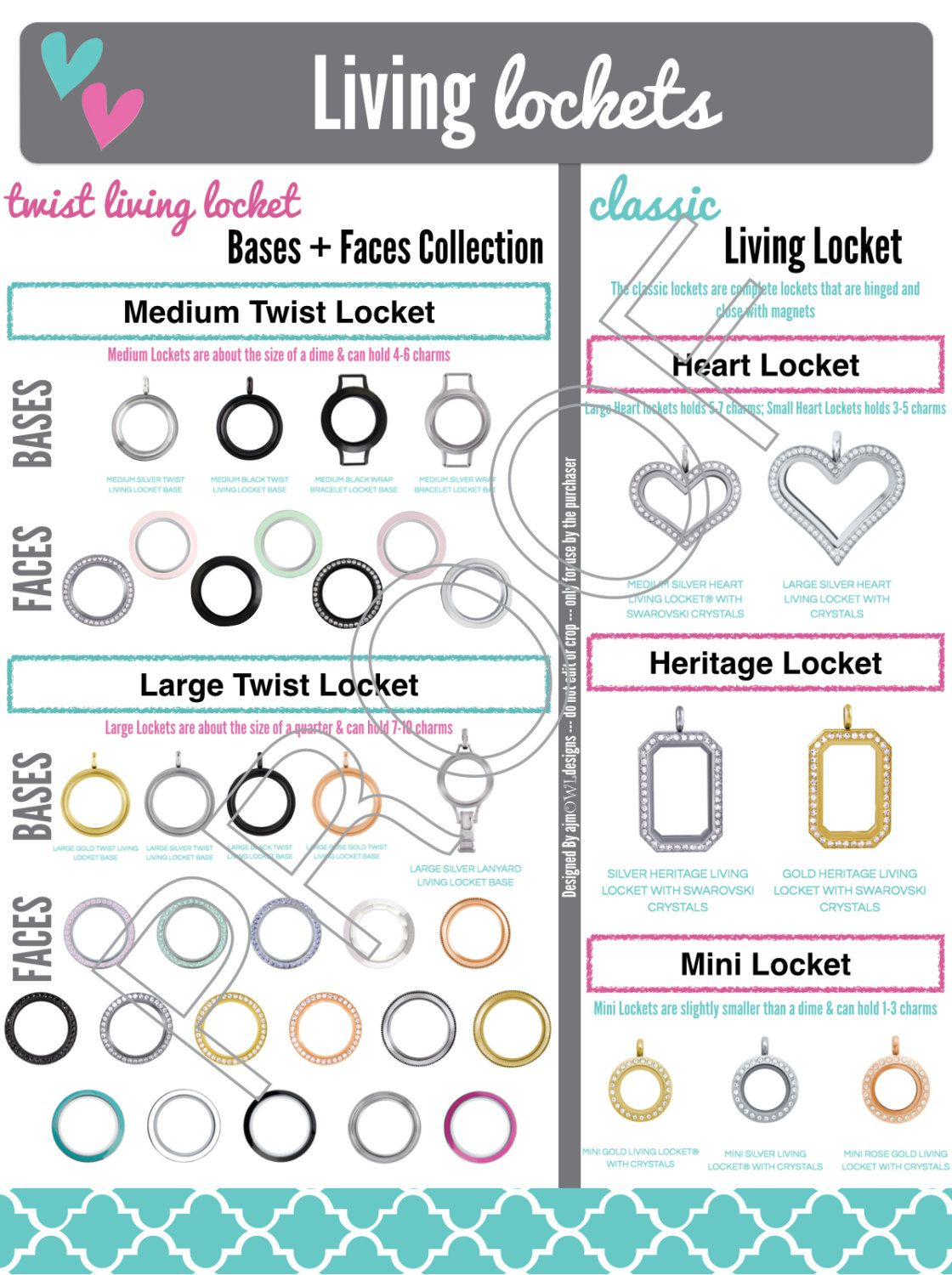 Living Lockets Collection Face Base Classic Jb Graphic Origami Owl Inspired Origami Owl Jewelry Origami Owl Origami Owl Designer