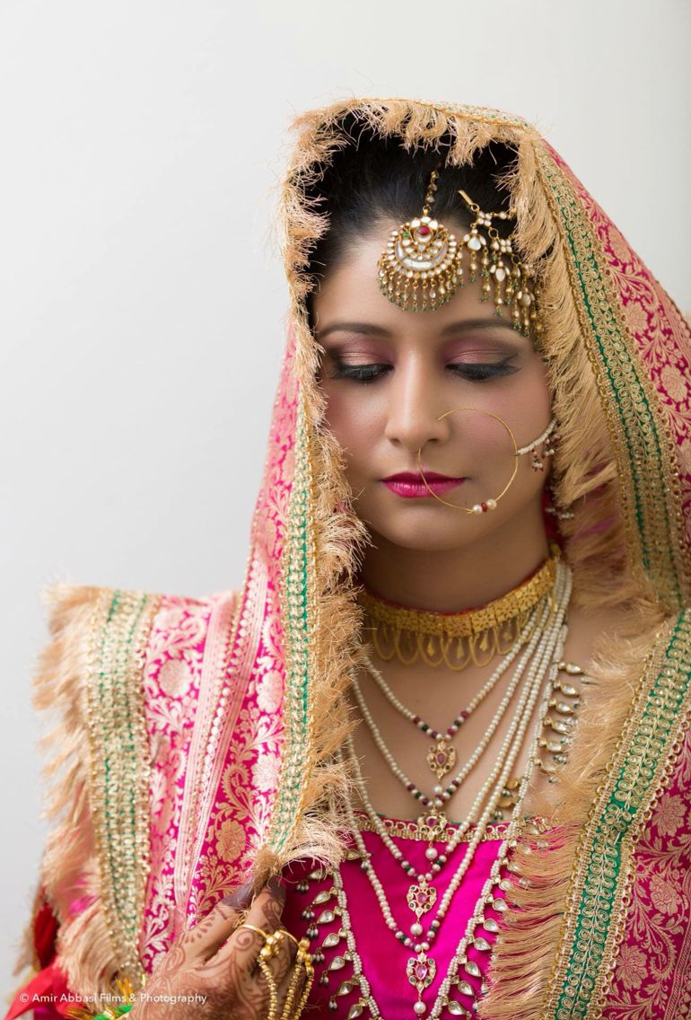 Muslim traditional Indian bride   Traditional jewelry and gharara