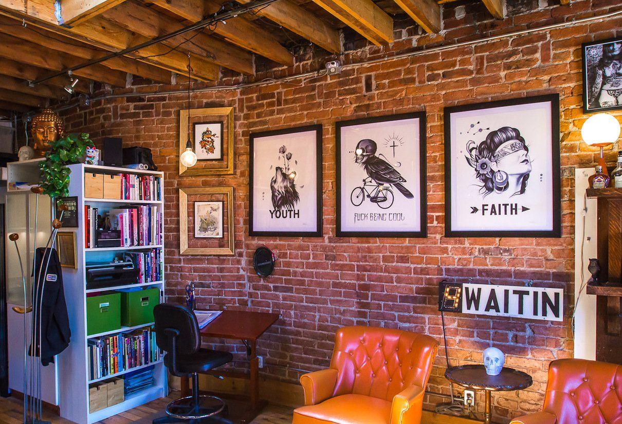 Enjoyable Under My Thumbs Homey Tattoo Studio Spaces In 2019 Customarchery Wood Chair Design Ideas Customarcherynet