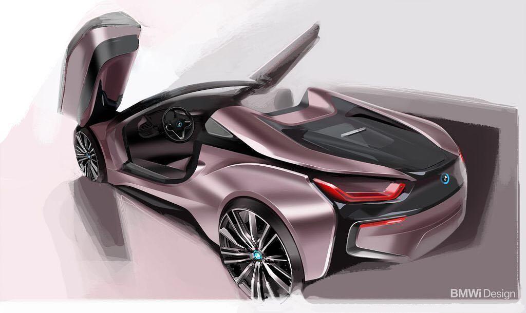 Bmw I8 Roadster Rendering Bmw I8 Bmw New Bmw