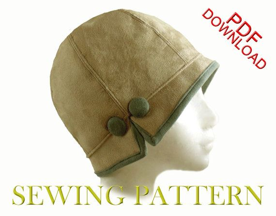 SEWING PATTERN - Lois 1920s Twenties Cloche Fabric Hat for Child or ...